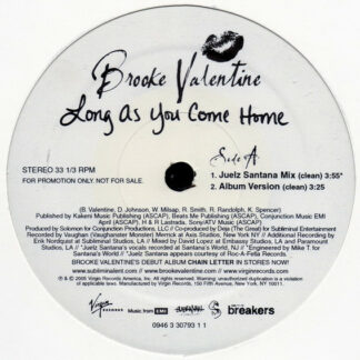 """Brooke Valentine - Long As You Come Home (12"""", Promo)"""