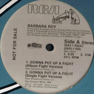 "Barbara Roy - Gonna Put Up A Fight (12"", Maxi, Promo)"