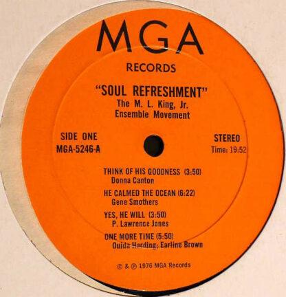 The M. L. King, Jr. Ensemble Movement - Soul Refreshment (LP, Album)