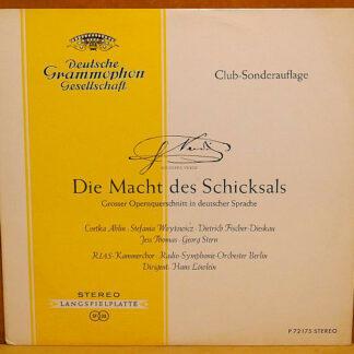Giuseppe Verdi - Cvetka Ahlin • Stefania Woytowicz • Dietrich Fischer-Dieskau - Die Macht Des Schicksals (LP, Club)