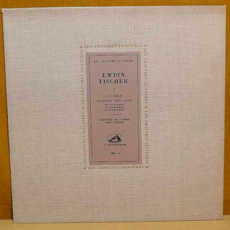 Ewdin Fischer* - J.S. Bach* - Concertos Pour Piano N° 1 En Ré Mineur, N° 4 En La Mineur, N°5 En Fa Mineur (LP, Mono, M/Print)