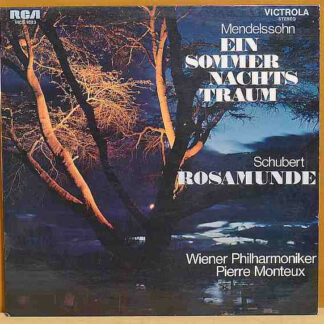 Pierre Monteux, Vienna Philharmonic* - Mendelssohn Incidental Music To A Midsummer Night's Dream Schubert Music From Rosamunde (LP, Mono)