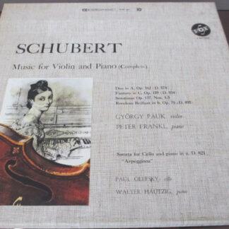 György Pauk, Peter Frankl, Paul Olefsky, Walter Hautzig - Schubert Music for Violin and Piano (complete) (3xLP + Box)