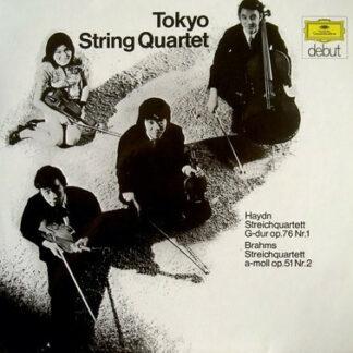 Tokyo String Quartet - Haydn* / Brahms* - Streichquartett G-dur Op. 76 Nr.1 / Streichquartett a-moll Op. 51 Nr. 2 (LP, Album)