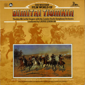 Dimitri Tiomkin, The John McCarthy Singers With The London Studio Symphony Orchestra Conducted By Laurie Johnson - The Western Film World Of Dimitri Tiomkin  (LP, Amb)