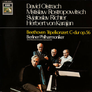 Beethoven* - Berliner Philharmoniker, David Oistrach, Mstislaw Rostropowitsch*, Svjatoslav Richter*, Herbert von Karajan - Tripelkonzert C-Dur Op.56 (LP)