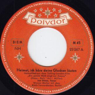 """Jon Otnes - Heimat Ich Höre Deine Glocken Läuten / Ich Schenk' Dir Den Mond (7"""", Single)"""