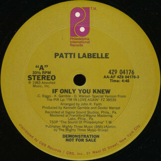 """Patti LaBelle - If Only You Knew (12"""", Promo)"""