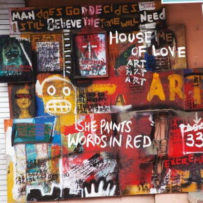 House Of Love* - She Paints Words In Red (LP, Album, Ltd, Num, RE, Whi)