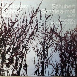 Franz Schubert, Sviatoslav Richter - Sonate A-moll Op. 42 - Impromptu Nr 2 Es-dur Op. 90,2 (D 899,2) (LP)