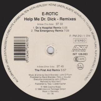 "E-Rotic - Help Me Dr. Dick (Remixes) (12"")"