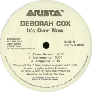 "Deborah Cox - It's Over Now (12"", Promo)"