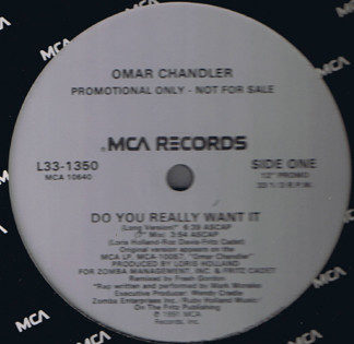 """Omar Chandler - Do You Really Want It (12"""", Promo)"""