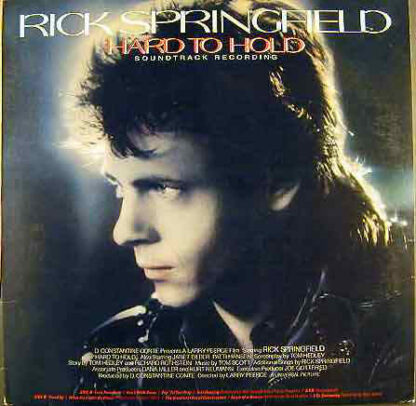Rick Springfield - Hard To Hold - Soundtrack Recording (LP, Gat)