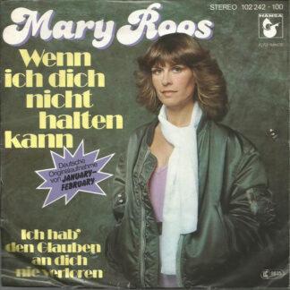 """Mary Roos - Wenn Ich Dich Nicht Halten Kann (7"""", Single)"""