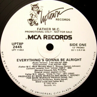 "Father MC - Everything's Gonna Be Alright (12"", Single, Promo, Lab)"