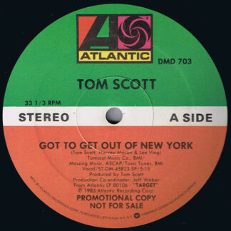 Tom Scott - Got To Get Out Of New York / Aerobia (12