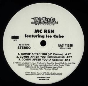 "MC Ren - Comin' After You (12"", Promo)"