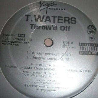 """T. Waters - Throw'd Off (12"""", Promo)"""