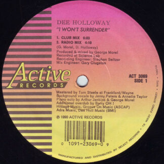 Dee Holloway - I Won't Surrender (12