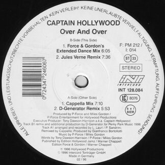 "Captain Hollywood - Over And Over (12"")"