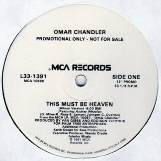 """Omar Chandler - This Must Be Heaven (12"""", Promo)"""