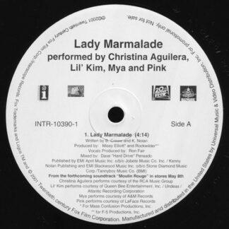 "Christina Aguilera, Lil' Kim, Mya And Pink* - Lady Marmalade (12"", Promo)"