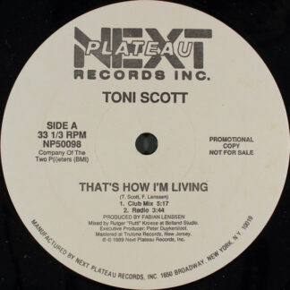 "Toni Scott* - That's How I'm Living / The Chief (12"", Promo)"