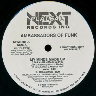 "Ambassadors Of Funk - My Minds Made Up (12"", Promo)"