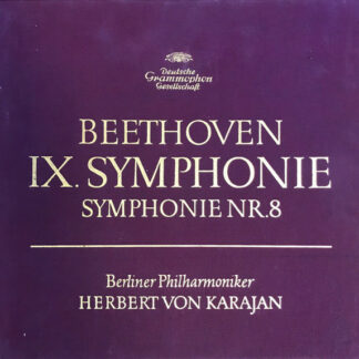 Beethoven* - Berliner Philharmoniker / Herbert von Karajan - IX. Symphonie / Symphonie Nr. 8 (2xLP, Album + Box)