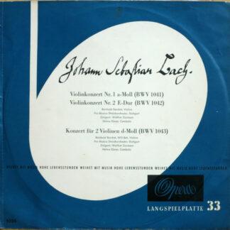 Johann Sebastian Bach - Violinkonzert Nr. 1 A-Moll (BWV 1041) / Violinkonzert Nr. 2 E-Dur (BWV 1042) / Konzert Für 2 Violinen D-Moll (BWV 1043) (LP)
