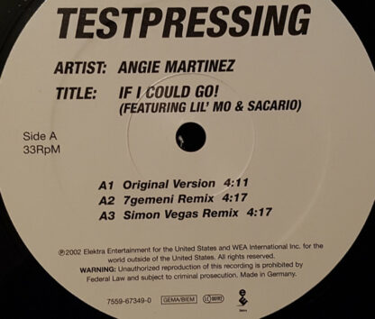 Angie Martinez Featuring Lil' Mo & Sacario - If I Could Go! (12