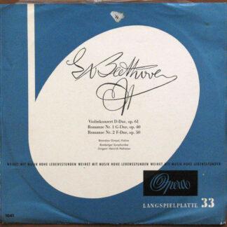 Ludwig van Beethoven, Heinrich Hollreiser, Bronislaw Gimpel, Bamberger Symphoniker - Violinkonzert D-Dur Op.61 / Romanze Nr.1 G-Dur Op.40 / Romanze Nr.2 F-Dur Op.50 (LP, Album)