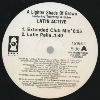 "Lighter Shade Of Brown - Latin Active (12"", Promo)"