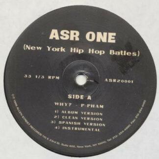 "Various - ASR One New York Hip Hop Battles (12"", Single)"