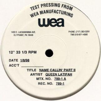 """Queen Latifah - Name Callin' Part II (12"""", TP)"""