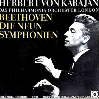 Herbert von Karajan - Philharmonia Orchestra - Die Neun Symphonien (7xLP, Comp, Box)