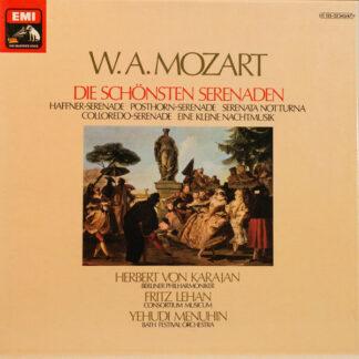 W.A. Mozart*, Herbert Von Karajan, Berliner Philharmoniker, Fritz Lehan, Consortium Musicum (2), Yehudi Menuhin, Bath Festival Orchestra - Die Schönsten Serenaden (3xLP + Box, Comp)