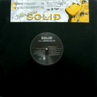 """Solid - Fall Down On Me (New Mixes) (12"""", Promo)"""