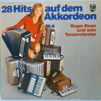 Roger Bean Und Sein Orchester - 28 Hits auf dem Akkordeon Nr. 6 (LP)