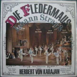 Johann Strauß*, Wiener Philharmoniker, Herbert von Karajan - Die Fledermaus – Operettenquerschnitt (LP, Smplr, Bla)