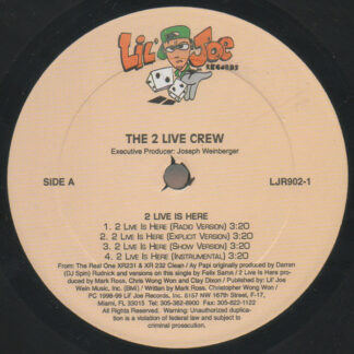 """The 2 Live Crew - 2 Live Is Here / Ay Papi (12"""")"""