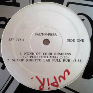 """Salt-N-Pepa* - None Of Your Business (12"""", Promo)"""