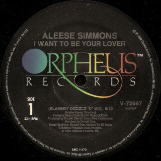 "Aleese Simmons - I Want To Be Your Lover (12"")"
