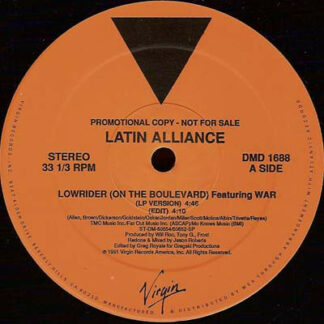 """Latin Alliance Featuring  Kid Frost, Mellow Man Ace And MC A.L.T.* - Low Rider (12"""", Promo)"""