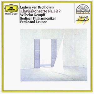 Beethoven* - Wilhelm Kempff, Ferdinand Leitner, Berliner Philharmoniker - Klavierkonzerte Nos. 1 & 2 (LP, RM)