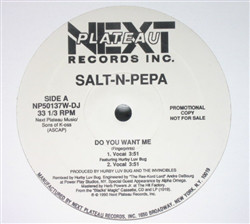 """Salt-N-Pepa* Featuring Hurby Luv Bug - Do You Want Me (Remix) (12"""", Promo)"""