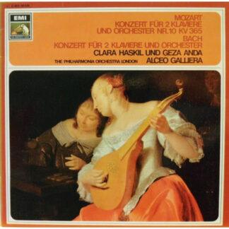Mozart*, Bach*, Clara Haskil Und Géza Anda, The Philharmonia Orchestra London*, Alceo Galliera - Konzert Für 2 Klaviere Und Orchester Nr. 10 KV 365 / Konzert Für 2 Klaviere Und Orchester (LP, Album)