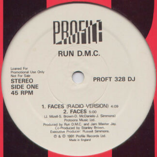 """Run D.M.C.* - Faces / Back From Hell (Remix) (12"""", Single, Promo)"""