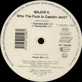 "Major K. - Who The Fuck Is Captain Jack? (12"")"